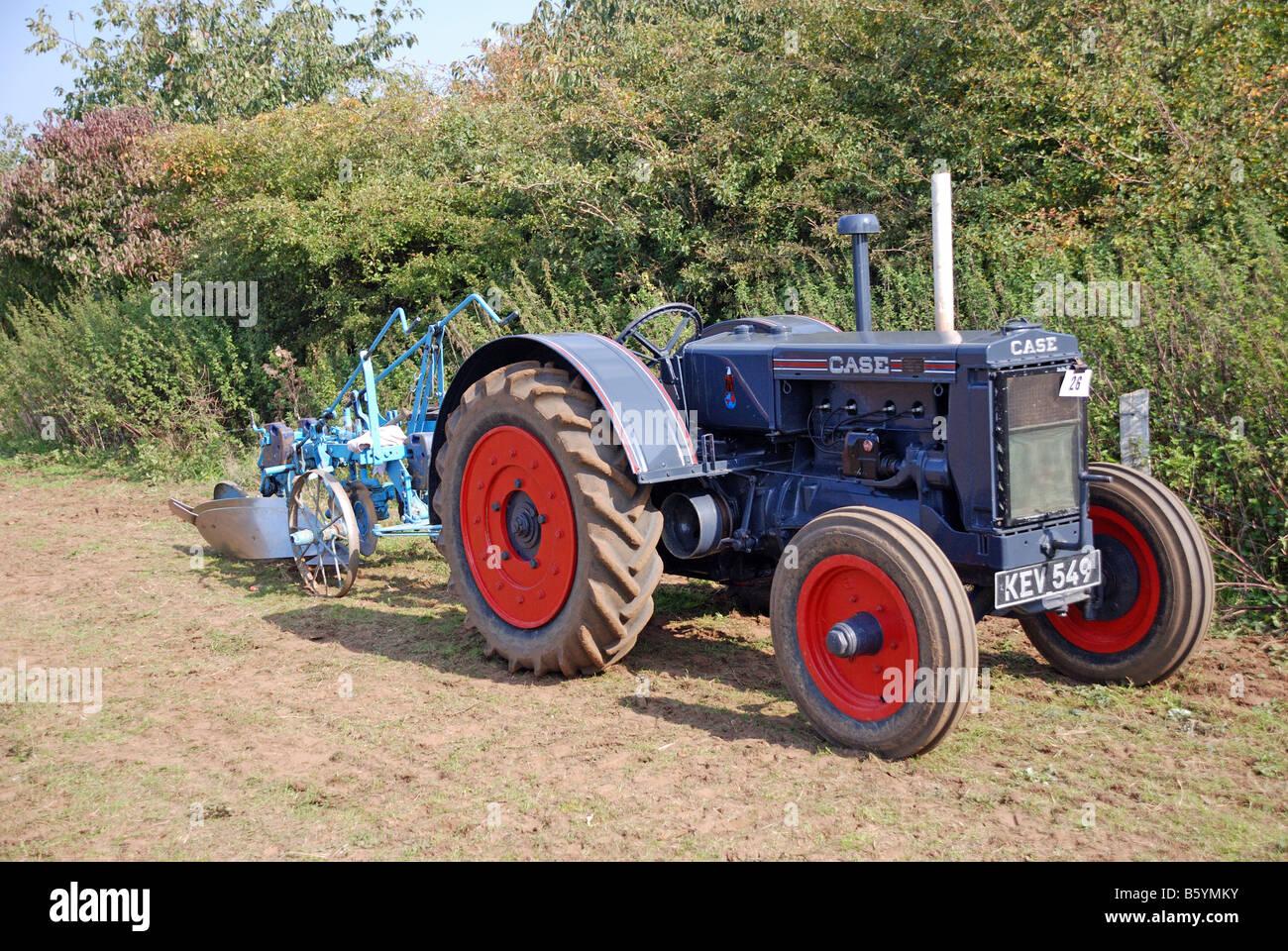 Case Model C : Vintage case model c tractor and plough ploughman paul