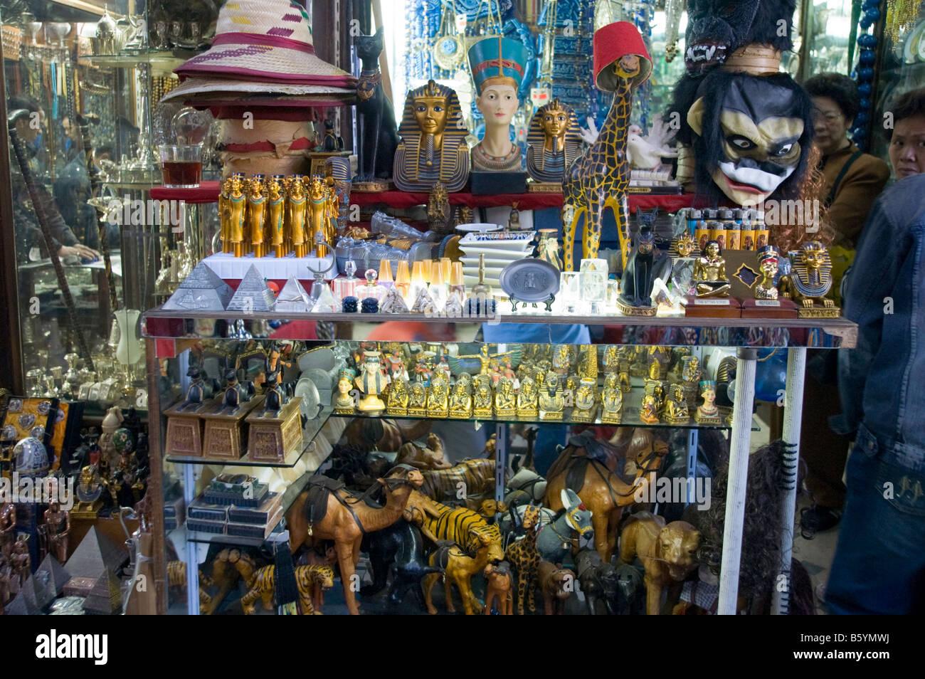 Egyptian Souvenir Stall Cairo Egypt Stock Photo Royalty