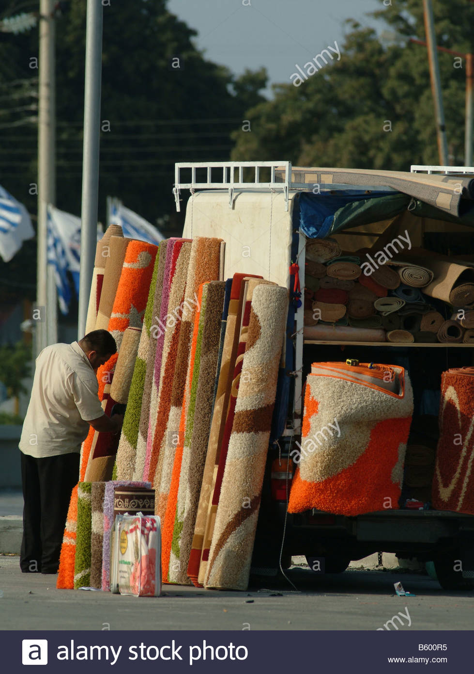STREET TRADER carpet seller carpets for sale out of the back of a ...