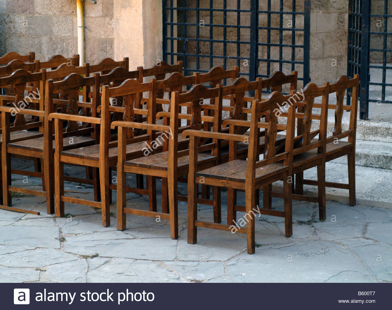 CHURCH Chairs Chair Outside Outdoors Outside Church Religion Pew Empty  Church Religious Religion Building Design Old