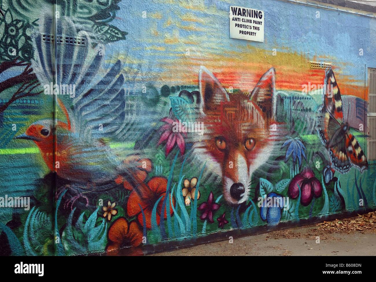 Graffiti wall uk - Graffiti Art On The Wall Of A Pavillion Knighton Lane East Aylestone Leicester England Uk