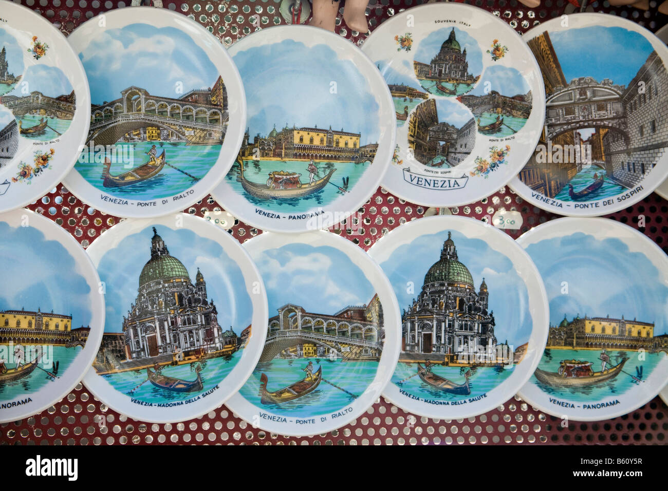 Painted plate souvenirs stock photos painted plate souvenirs keepsakes souvenir plates with motives from venice veneto italy europe stock amipublicfo Choice Image