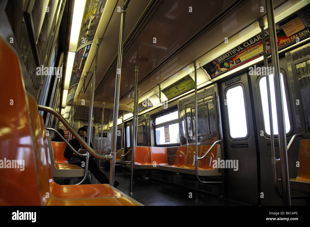 interior of new york subway train america usa stock photo royalty free image 20928724 alamy. Black Bedroom Furniture Sets. Home Design Ideas