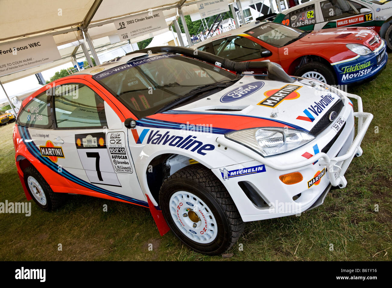 1999 Ford Focus WRC rally car in the paddock at Goodwood Festival of Speed Sussex UK. : rally car ford focus - markmcfarlin.com