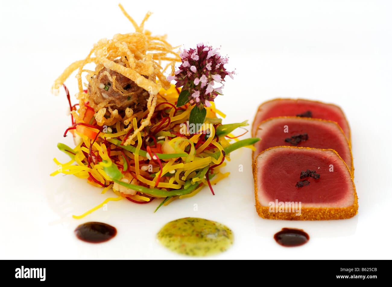 Tuna with curry china salad food haute cuisine stock for Haute cuisine
