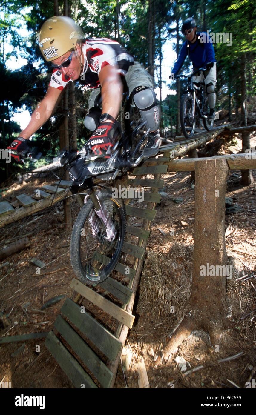 Downhill Mountainbiker Geisskopf Bike Park Bodenmais Lower