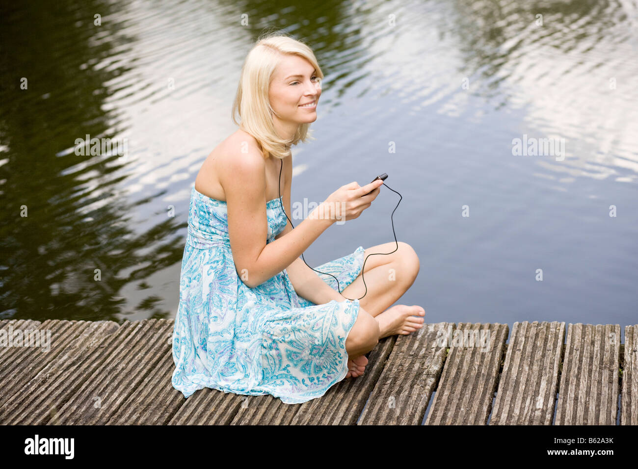 Photo Collection Girl Blonde Dress Lake