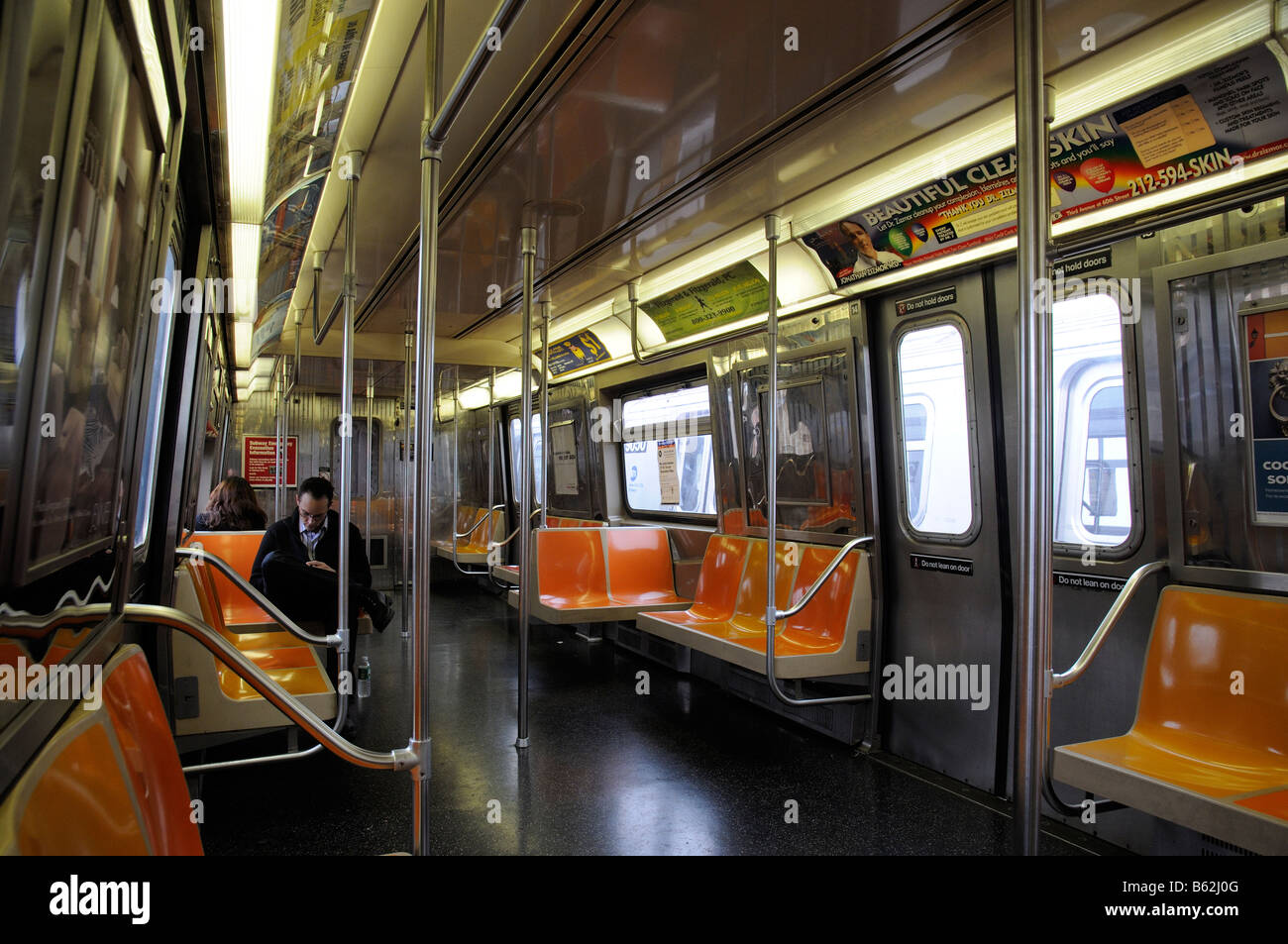 interior of new york subway train america usa stock photo royalty free image 20956336 alamy. Black Bedroom Furniture Sets. Home Design Ideas