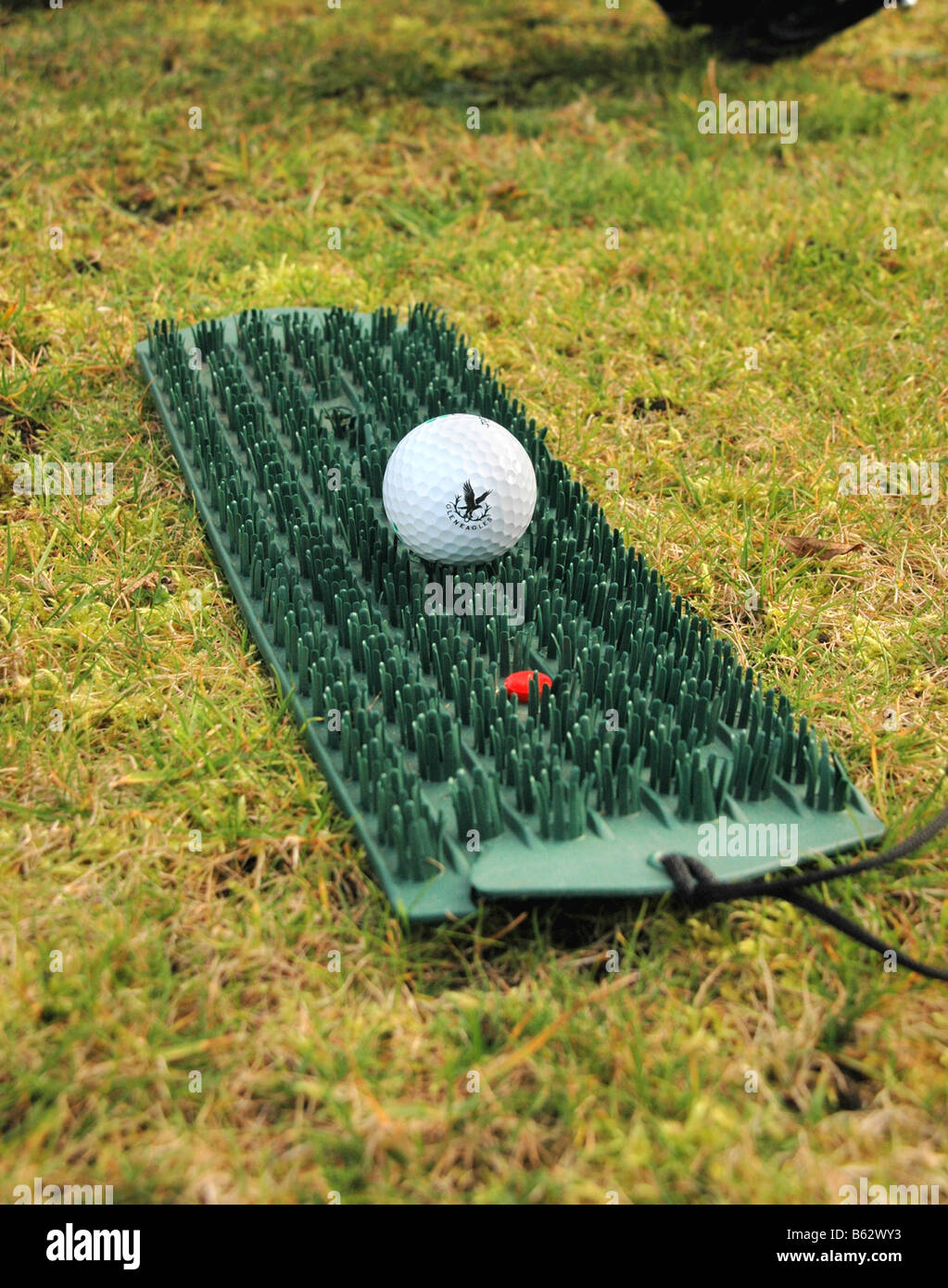 A Golf Mat For Winter Use And Golf Ball Stock Photo Royalty Free Image 20962567 Alamy