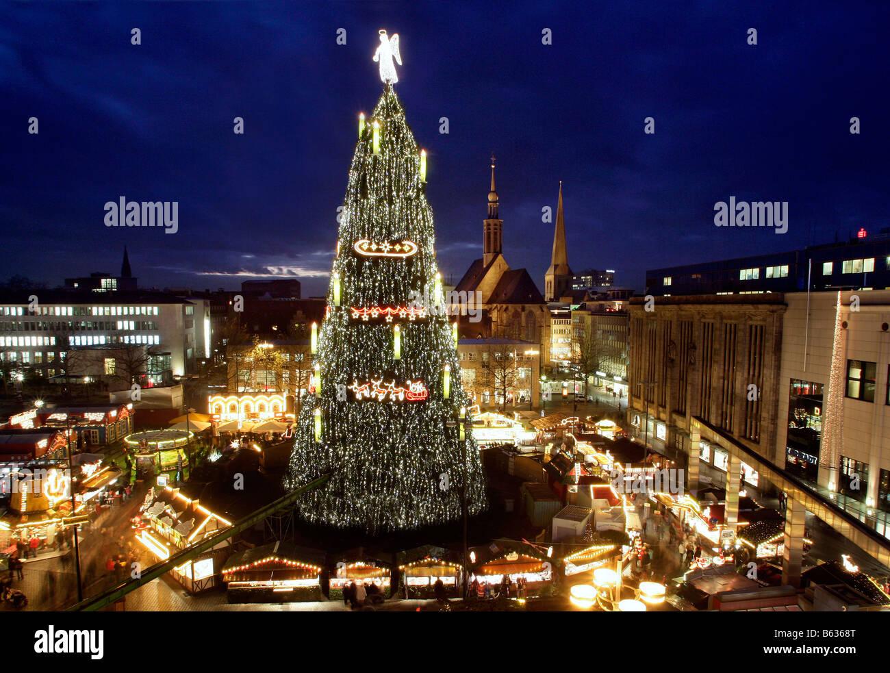 Dortmund Germany The World Largest Christmas Tree Stock