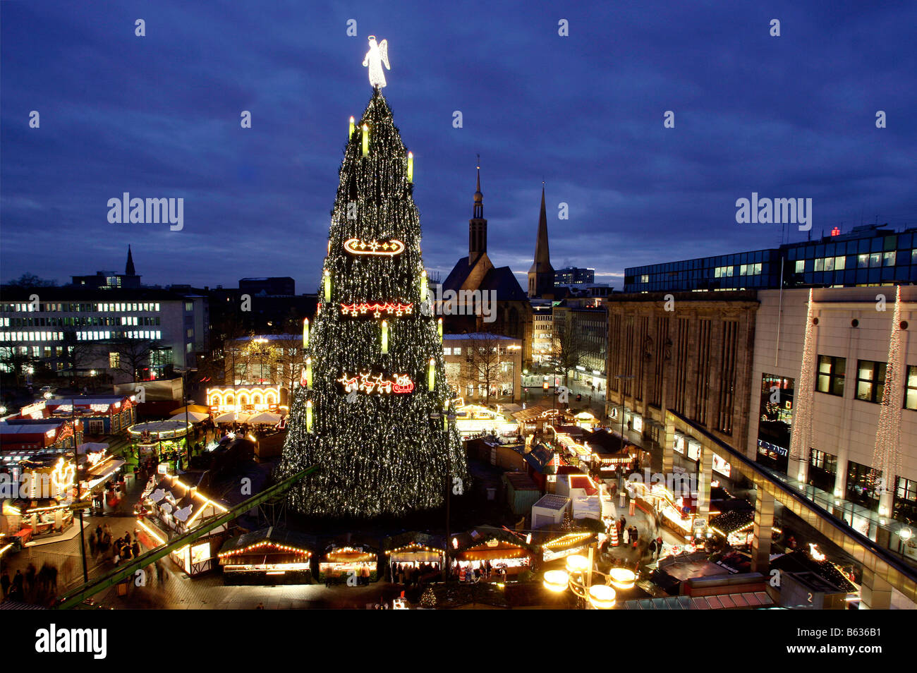 Dortmund/Germany: the largest Christmas tree of the world on the ...