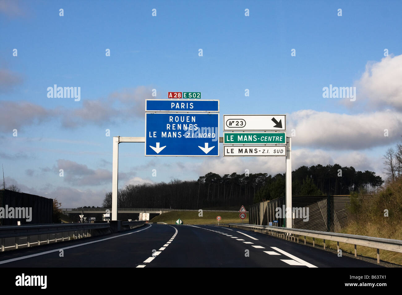 autoroute signs to paris rouen and le mans stock photo royalty free image 20970377 alamy. Black Bedroom Furniture Sets. Home Design Ideas