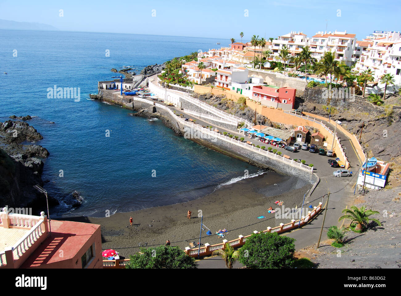 Beach view puerto de santiago tenerife canary islands spain stock photo royalty free image - Puerto santiago tenerife mapa ...