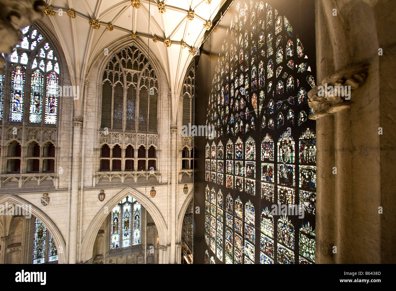 The great east window at york minster with a full sized for West window york minster