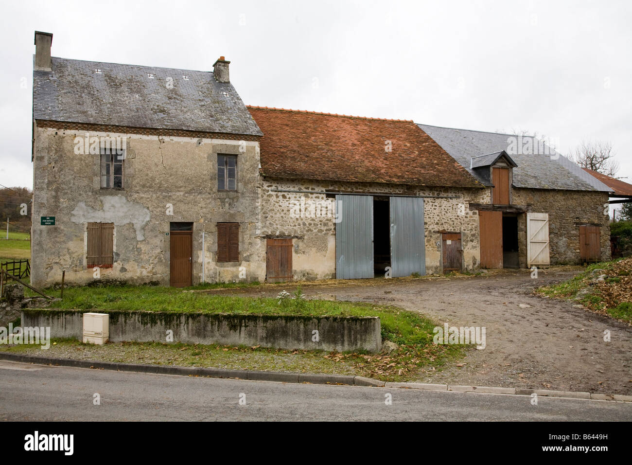 French Farm House Building Used For Keeping Sheep In