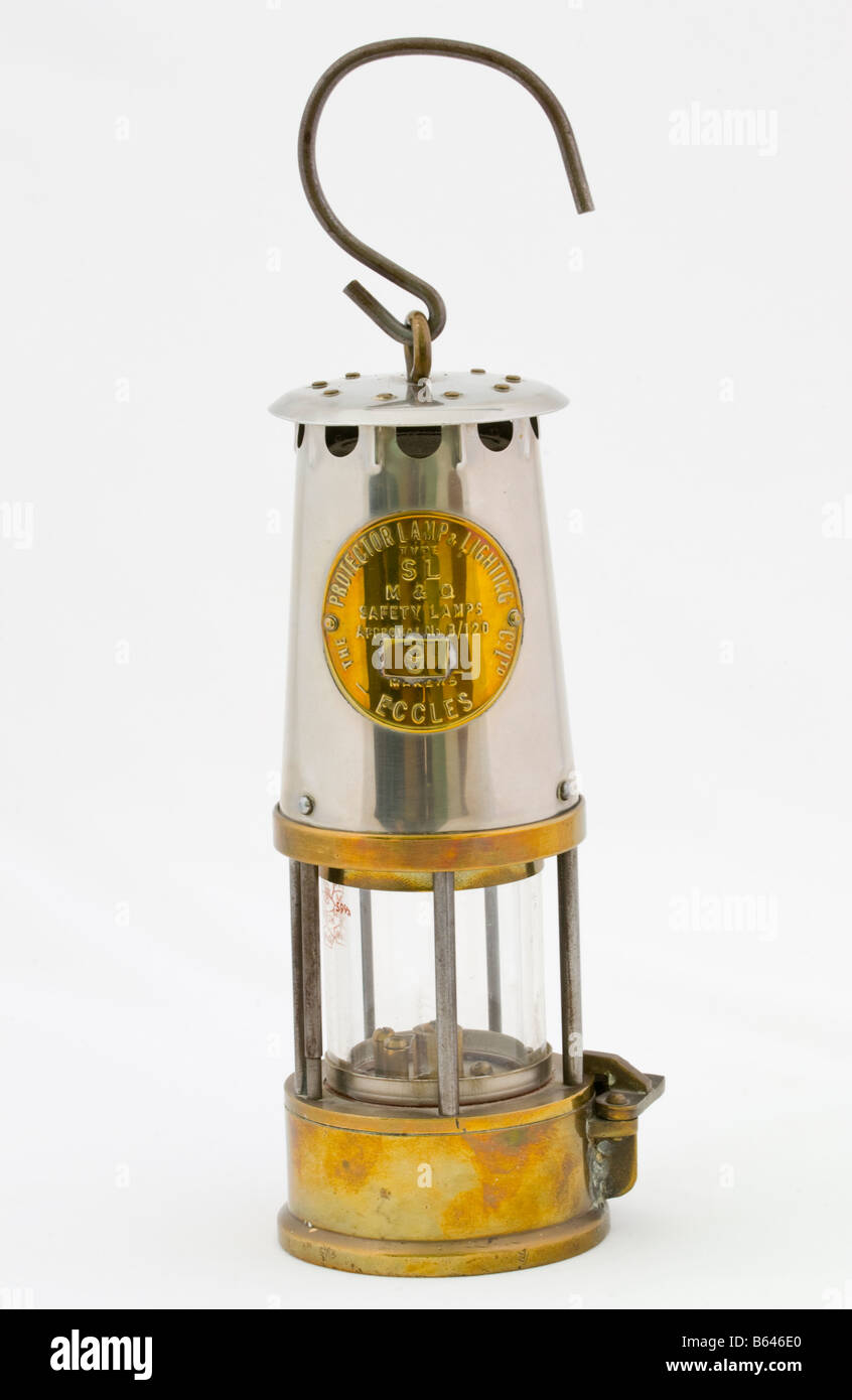 Type SL Miners Safety Lamp Made By The Protector Lamp And