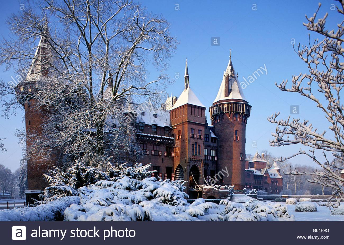 holland the netherlands haarzuilens castle called de. Black Bedroom Furniture Sets. Home Design Ideas