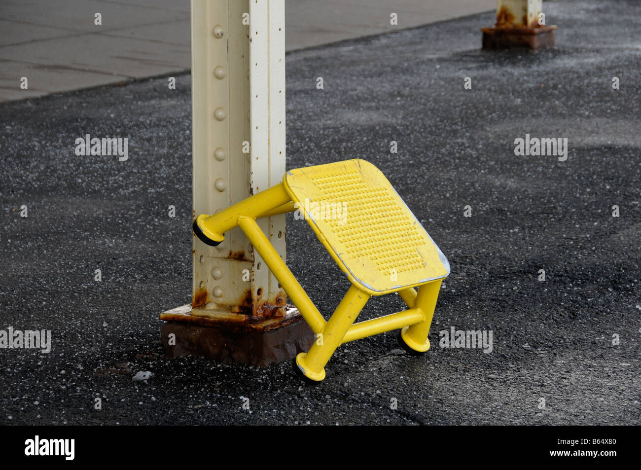 Stock Photo - Yellow step stool at train station : train step stool - islam-shia.org