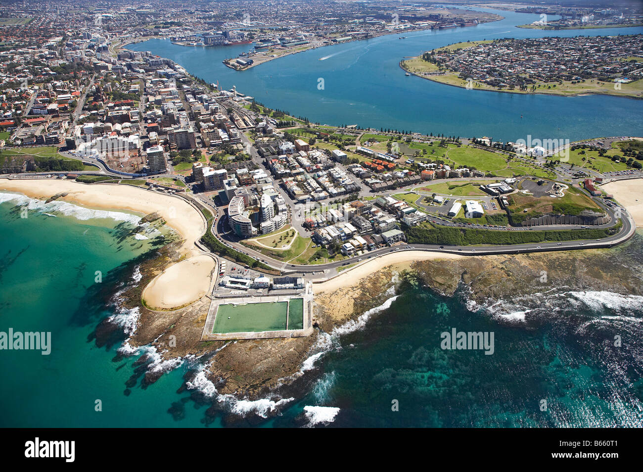 Newcastle Ocean Baths And Newcastle Beach Newcastle New South Wales Stock Photo 21030689 Alamy