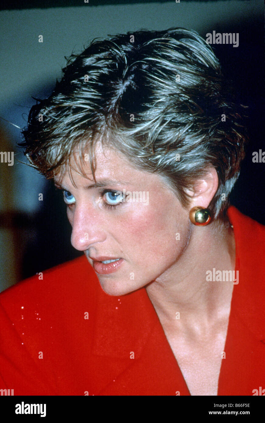 Princess Diana visit to a biscuit factory Liverpool Stock Photo ...
