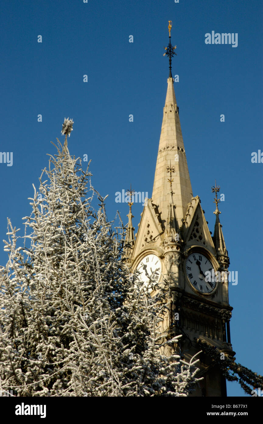 Leicester Clock Tower and festive Christmas Tree on Gallowtree ...