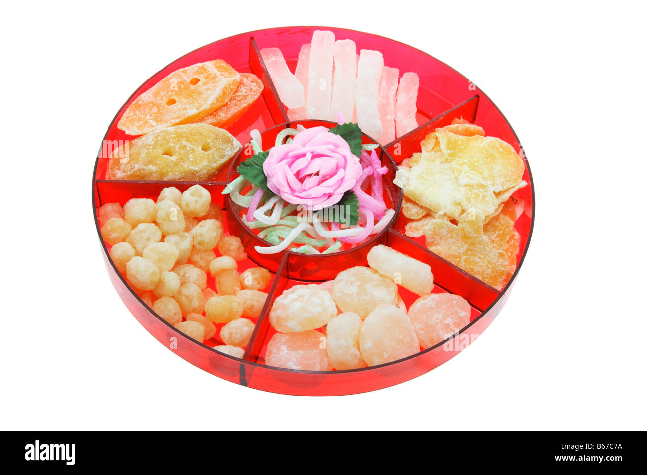 chinese new year food tray stock image - Chinese New Year Food