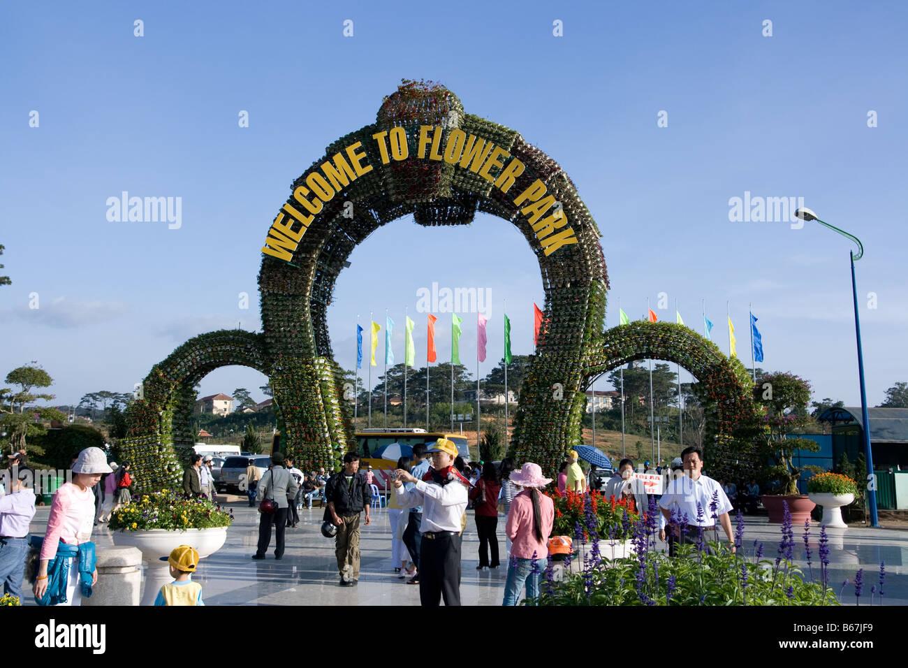 Flower Garden In Dalat. Lam Dong. Vietnam