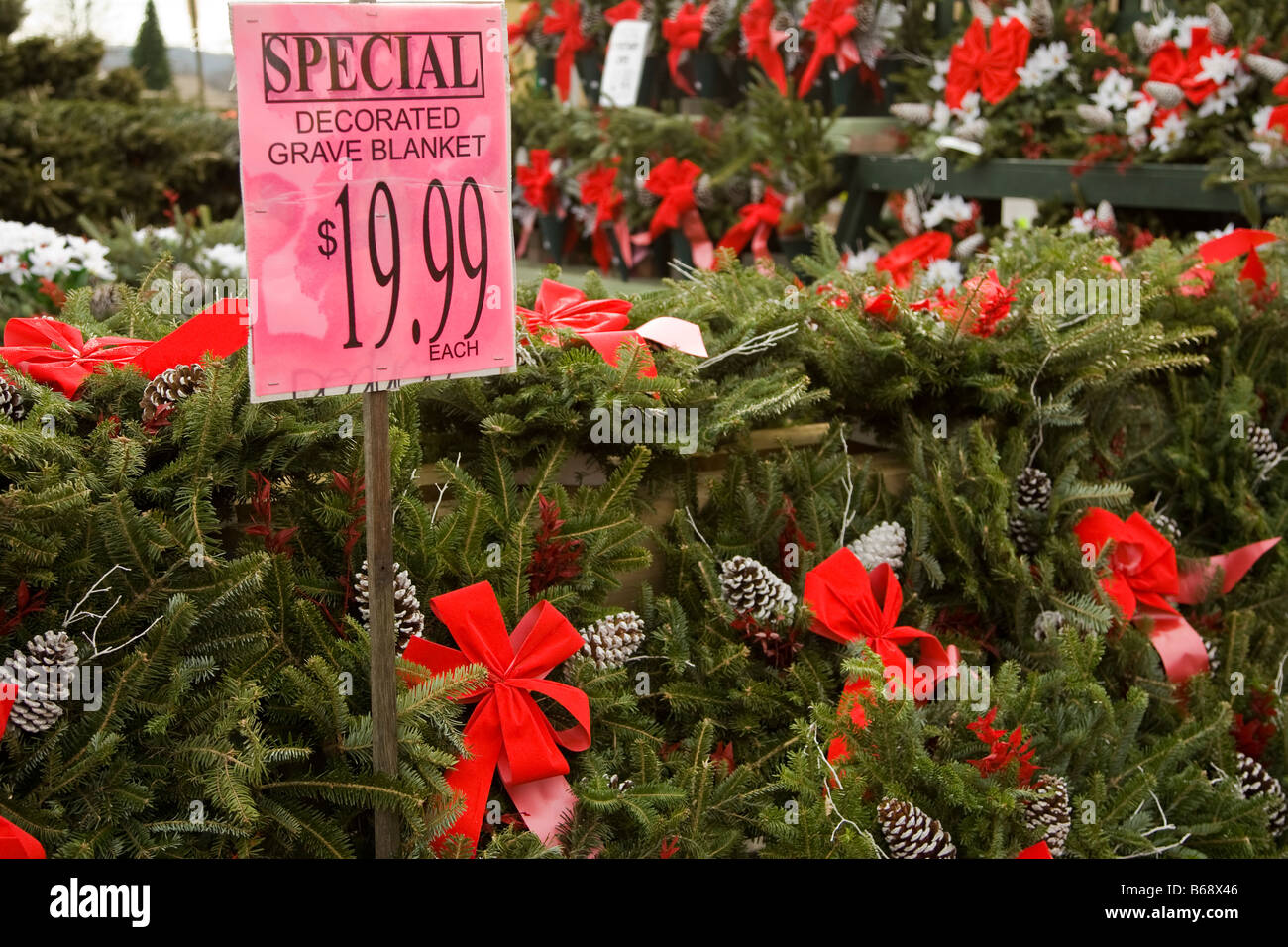 christmas grave blankets for sale stock photo 21094422 alamy