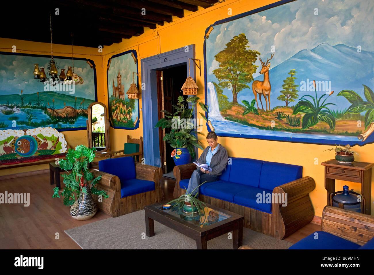 Mexico chiapas san cristobal de las casas patio of for Hotel azulejos san cristobal delas casas chiapas