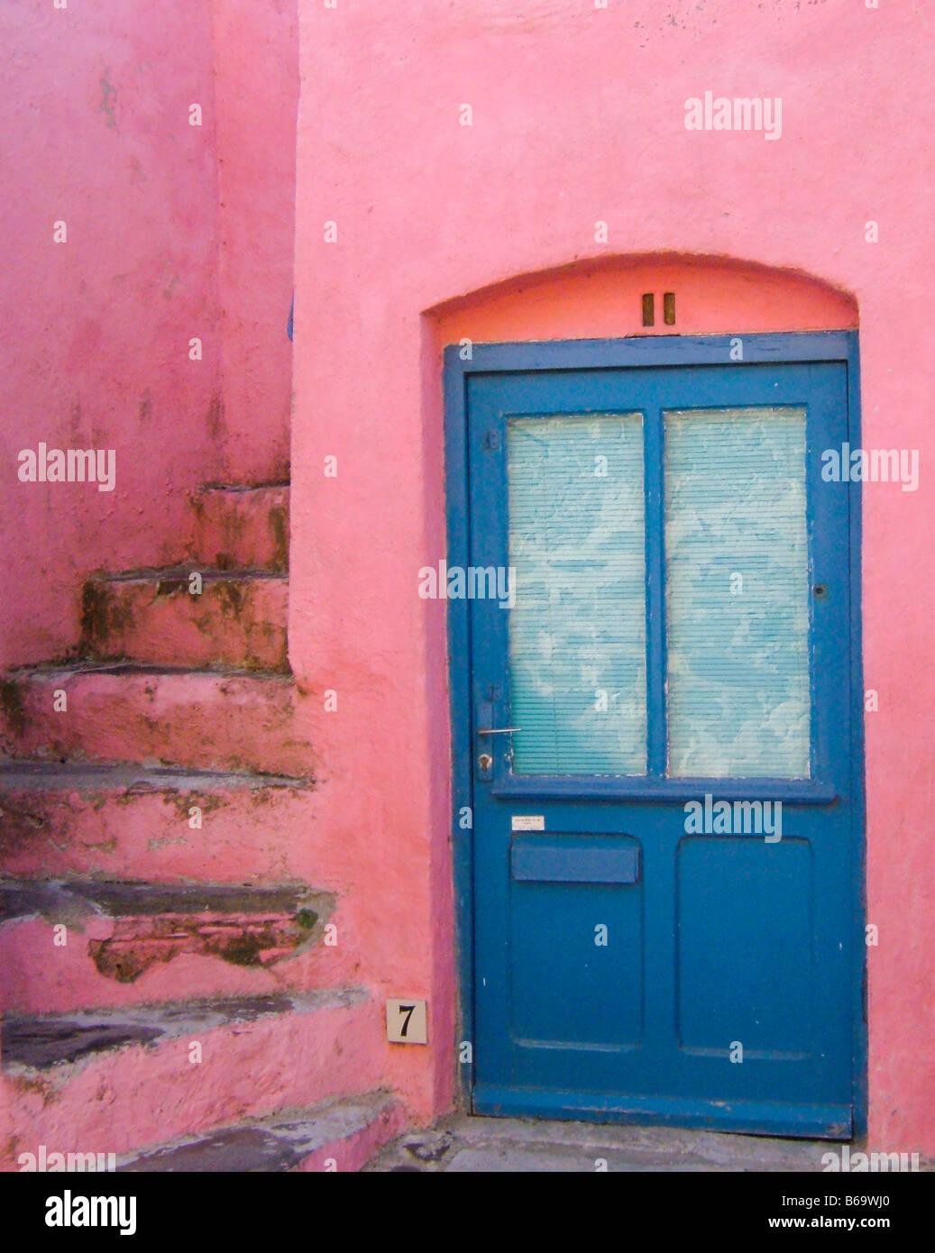 blue door pink house doors doorway entry entrance & blue door pink house doors doorway entry entrance handle ... pezcame.com