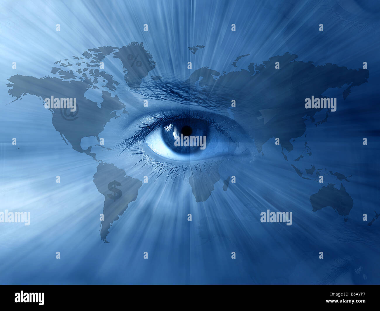 Continental abstract wallpaper with world map and blue eyes stock continental abstract wallpaper with world map and blue eyes gumiabroncs Gallery