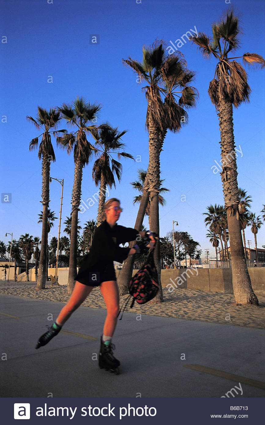 Roller skating los angeles - United States California Los Angeles Venice Roller Skating Along The Beach Walkway