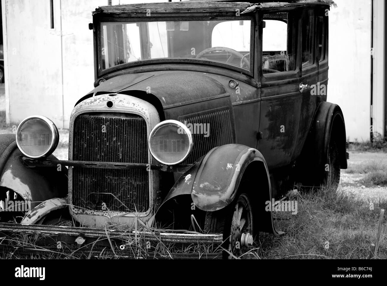 Black and white image of an old ford model t stock photo 21167346 black and white image of an old ford model t sciox Choice Image