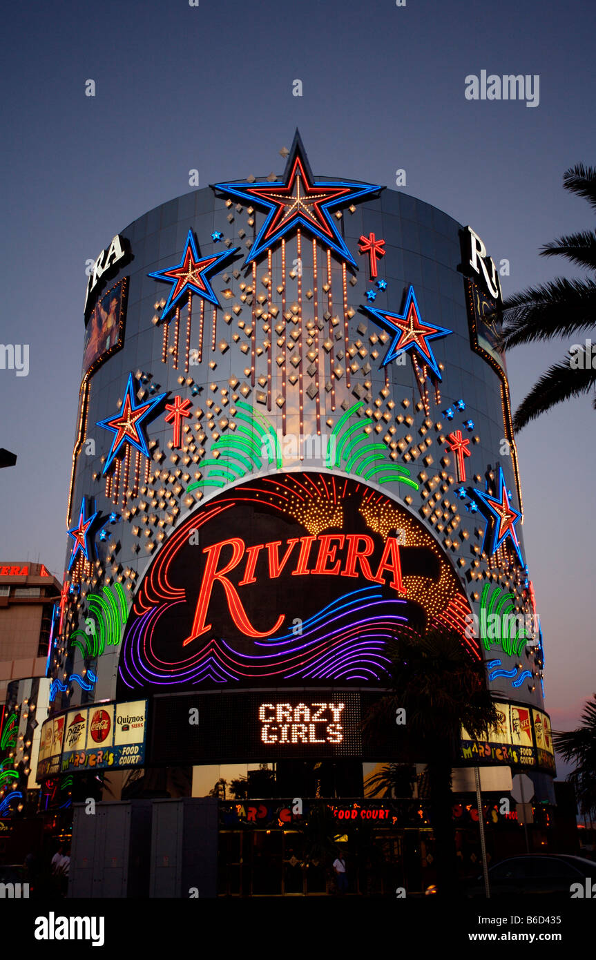 Las vegas strip riviera hotel stock photo royalty free for Riviera resort las vegas