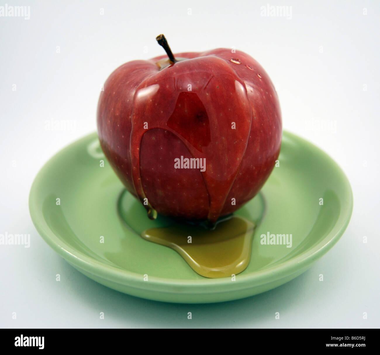 Rosh hashanah symbolic food apple and honey stock photo royalty rosh hashanah symbolic food apple and honey biocorpaavc