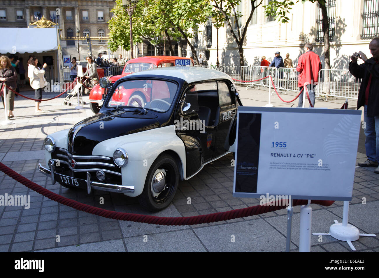 vintage 1955 renault 4 cv  u0026quot pie u0026quot  french police car  historic vehicle stock photo  royalty free