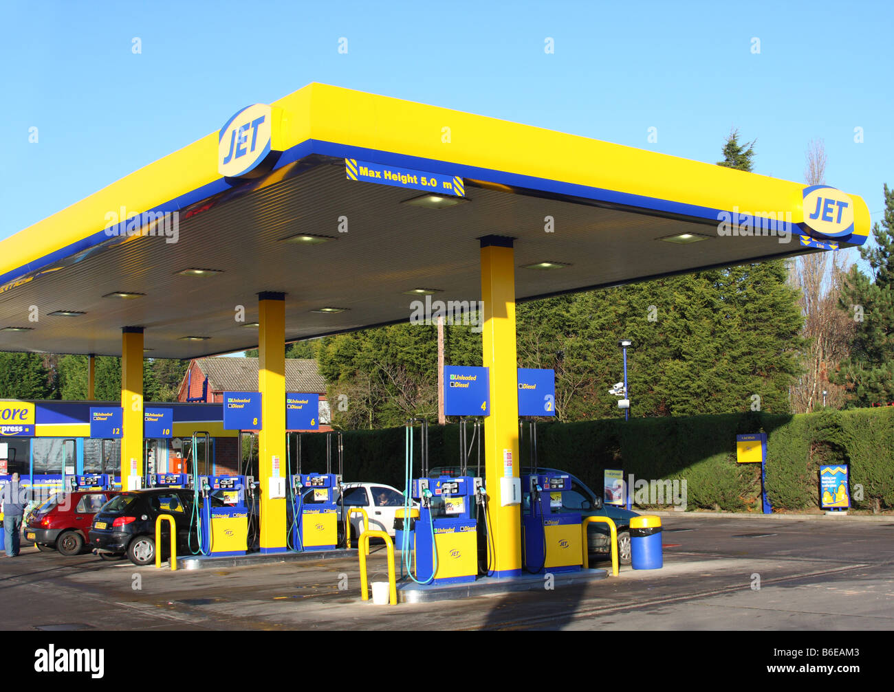 Diesel Gas Stations Near Me >> A Jet petrol station in a U.K. city Stock Photo, Royalty ...