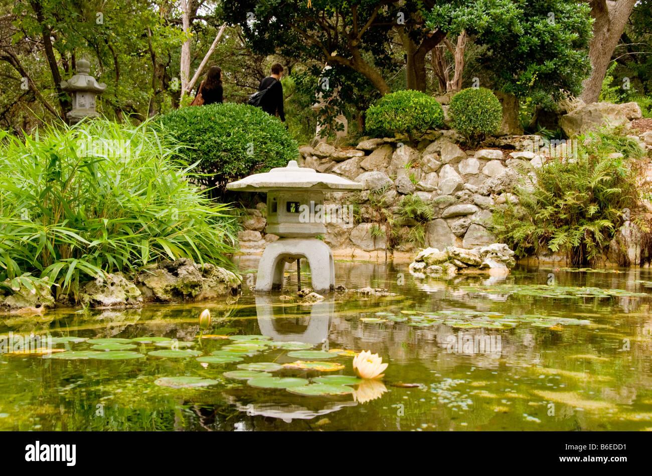 austins zilker park botanical gardens japanese koi pond - Japanese Koi Garden