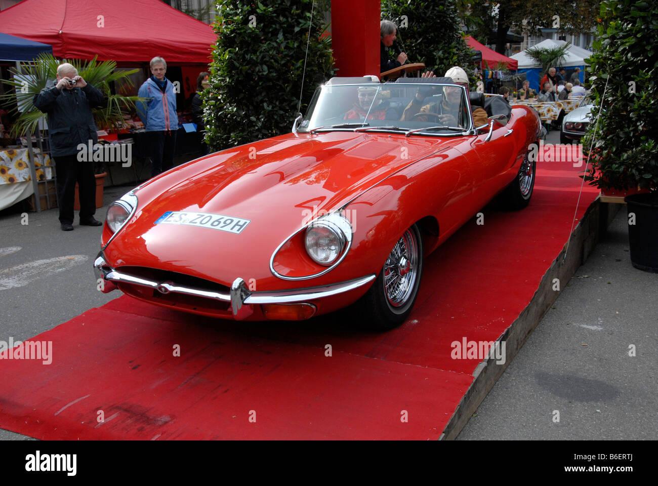 Jaguar E Type 4, 2, Retro Motor   Vintage Car Festival, Tuebingen,  Baden Wuerttemberg, Germany Europe