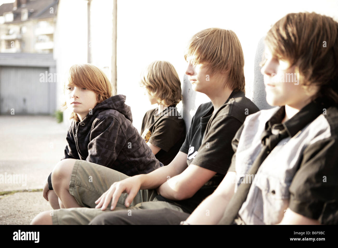 four boys in a backyard stock photo royalty free image 21234960