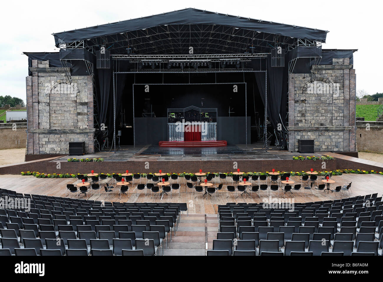 Empty outdoor concert stage - Open Air Stage In Xanten Arena Summer Festival In A Roman Ampitheatre Empty