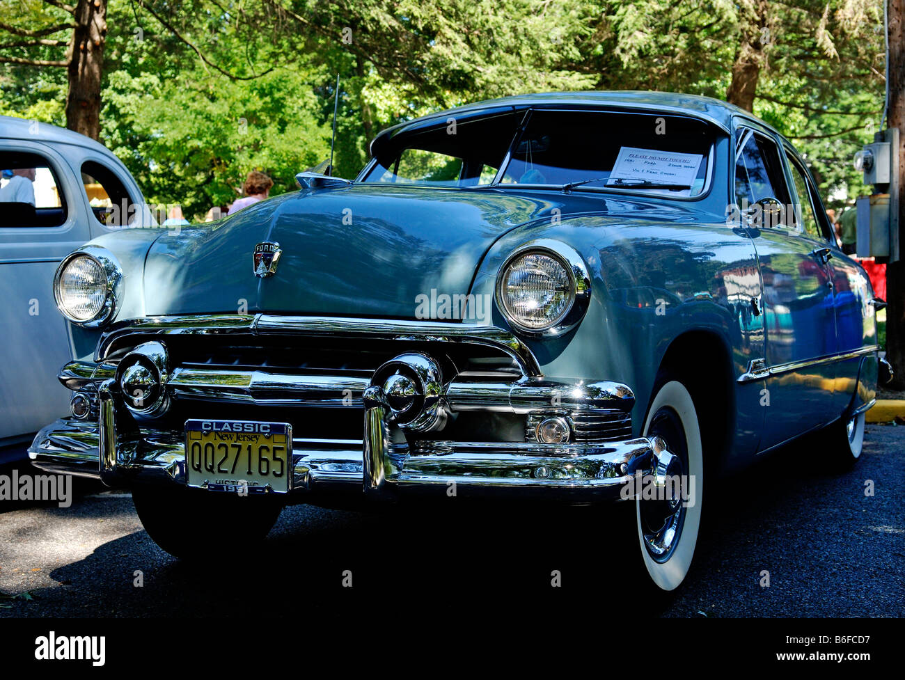 1951 Ford at a Classic Car Show in Belvidere, New Jersey, USA ...