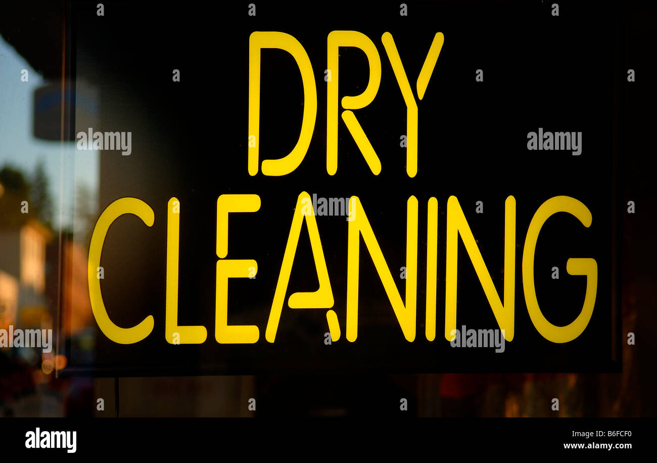 neon sign dry cleaning new york city ny usa stock. Black Bedroom Furniture Sets. Home Design Ideas