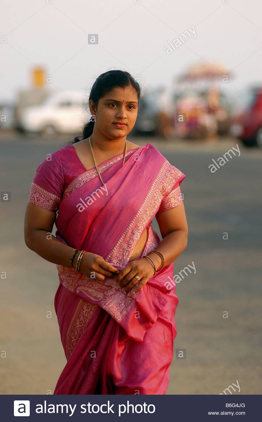 A LADY IN SAREE Stock Photo Royalty Free Image 21253192