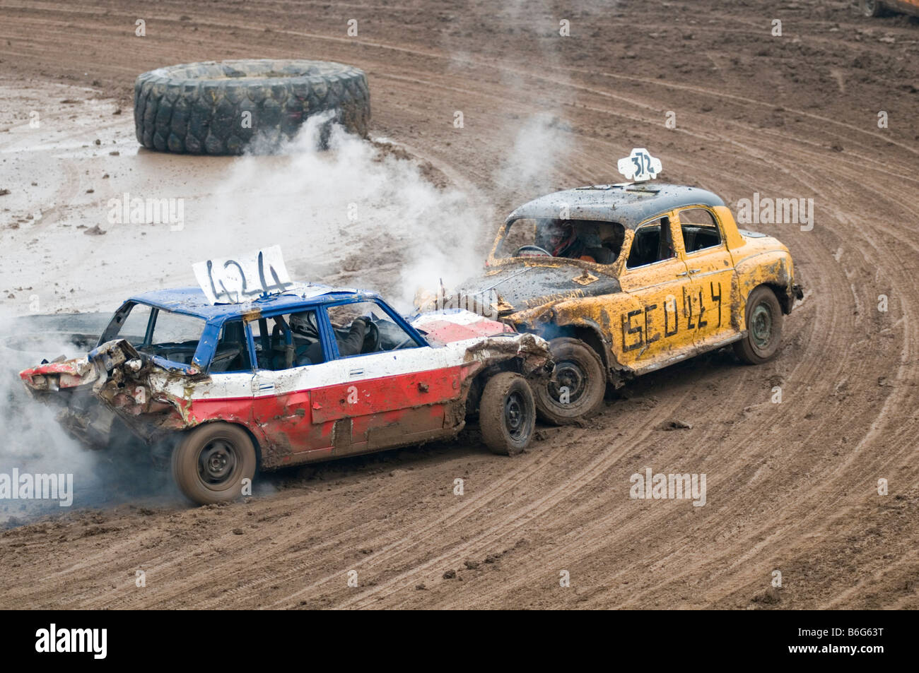 Banger Racing Stock Car Cars Demolition Destruction Derby Crash