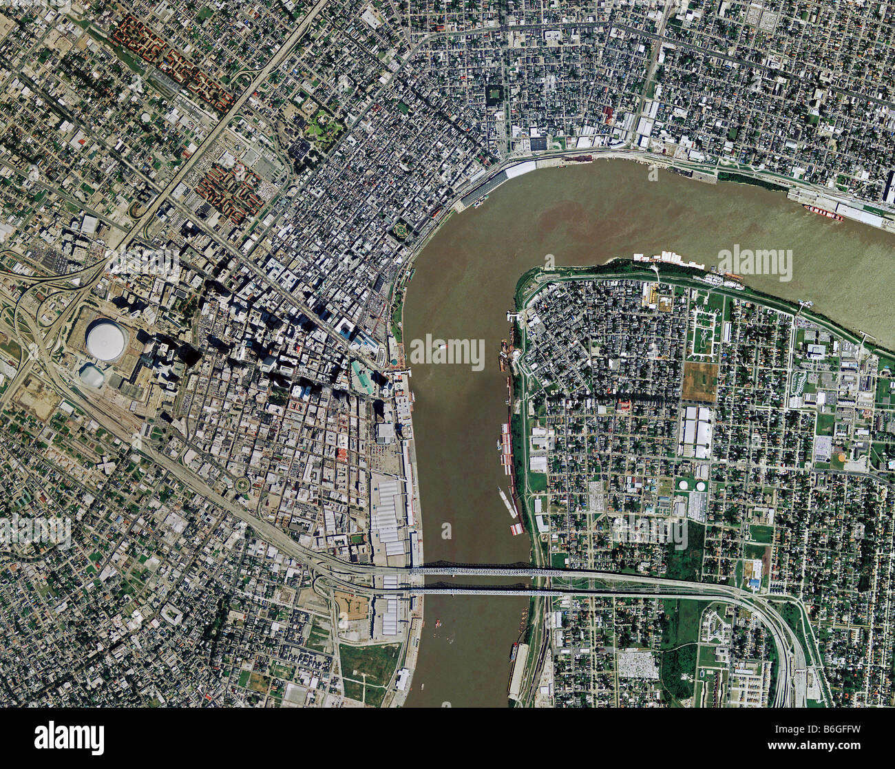 Mississipi River Stock Photos  Mississipi River Stock Images Alamy - Map of new orleans rivers