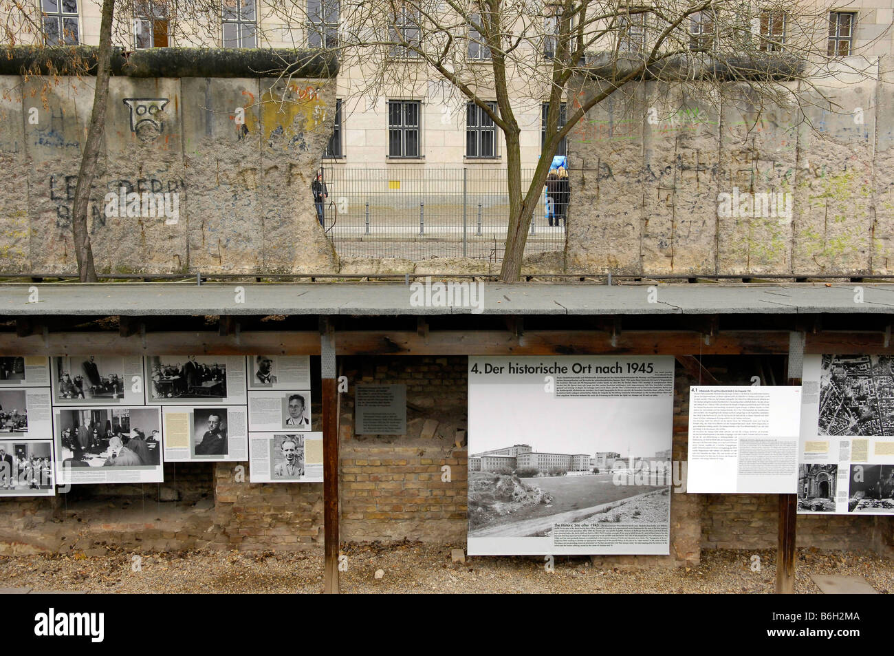 Stock photo topography of terror exhibition and documentation centre niederkirchnerstraße berlin germany