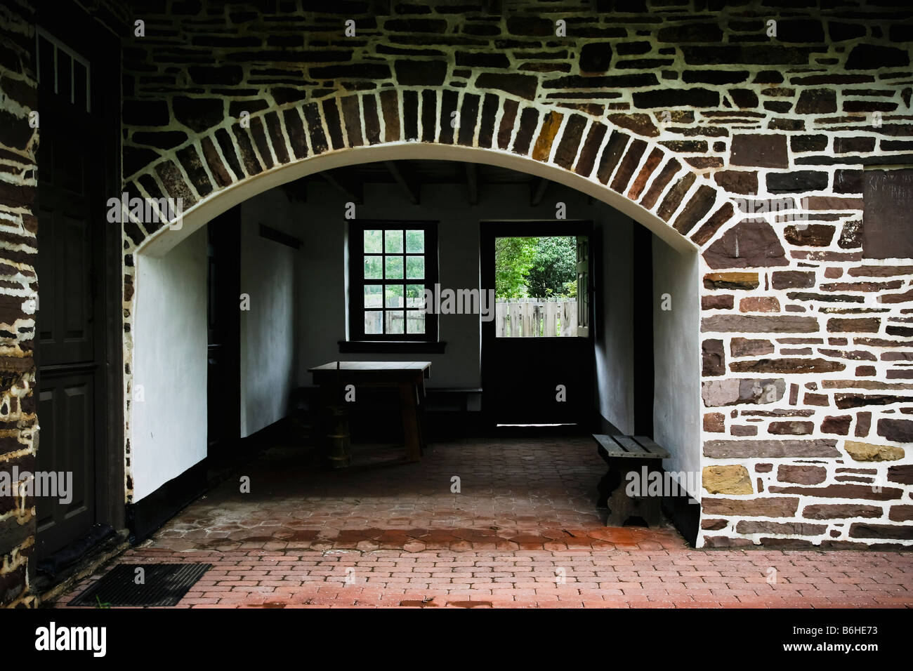 breezeway between an early colonial american residence and summer