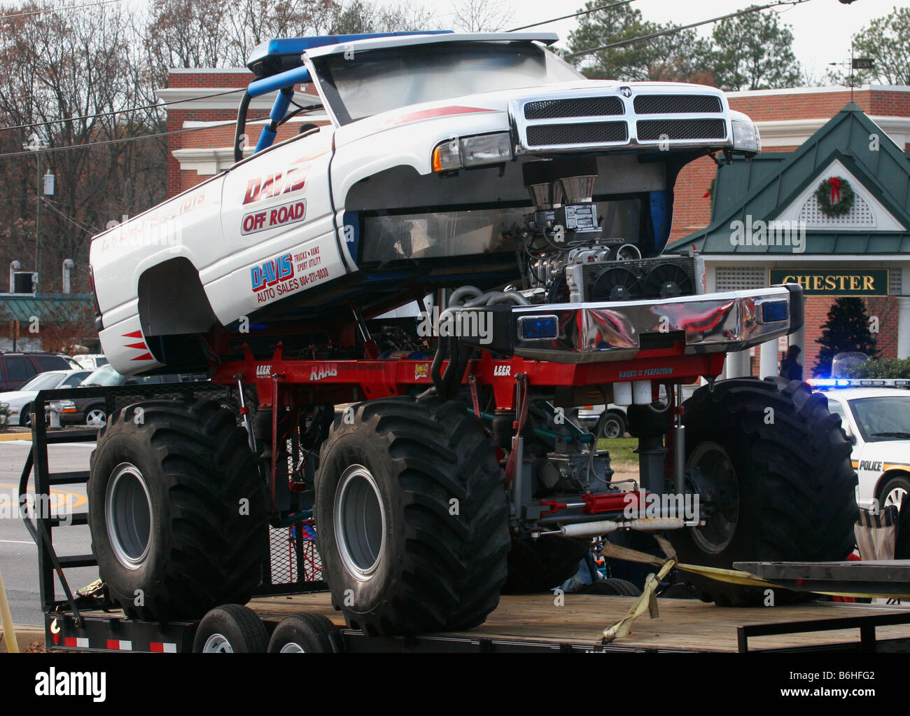 Gladiator Off Road Tires >> Monster truck. Off road vehicle on display Stock Photo, Royalty Free Image: 21283698 - Alamy