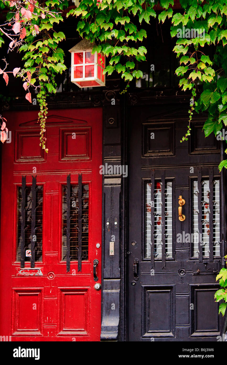 Row house entrance doors Old Town Montreal Quebec Canada & Row house entrance doors Old Town Montreal Quebec Canada Stock ... pezcame.com